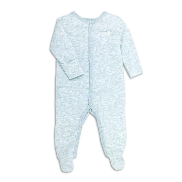 Grey Front-Opening Sleepsuit