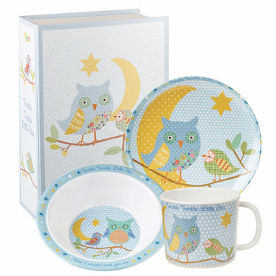 Twinkle Twinkle Blue 3 Piece Breakfast Set