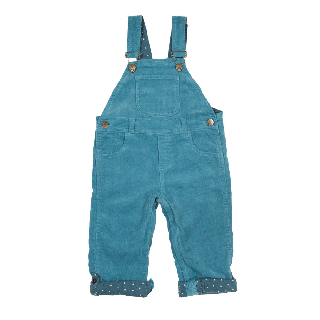 Teal Corduroy Dungarees
