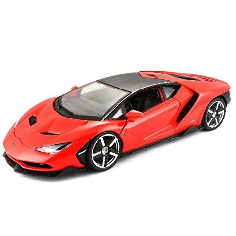 Lamborghini Centenario Red & Black 1/18 Special Edition BUNDLE with BONUS 6-8 1:64 Lamborghini & Care Package