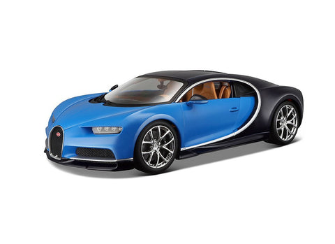 Bugatti Chiron Blue & Black 1/18 Special Edition BUNDLE with BONUS 6-8 1:64 Lamborghini & Care Package