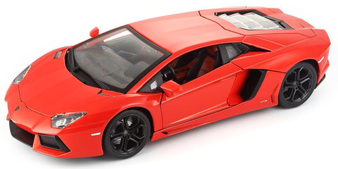Lamborghini Aventador LP 700-4 Red 1/18 Special Edition BUNDLE with BONUS 6-8 1:64 Lamborghini & Care Package
