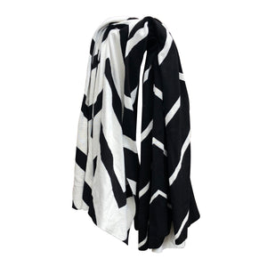 Zig Zag Knitted Throw Blanket - caché district