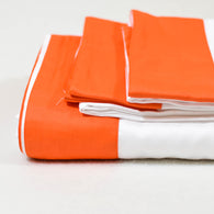 Organic cotton Classic Orange Sheet Sets 400 TC Sateen