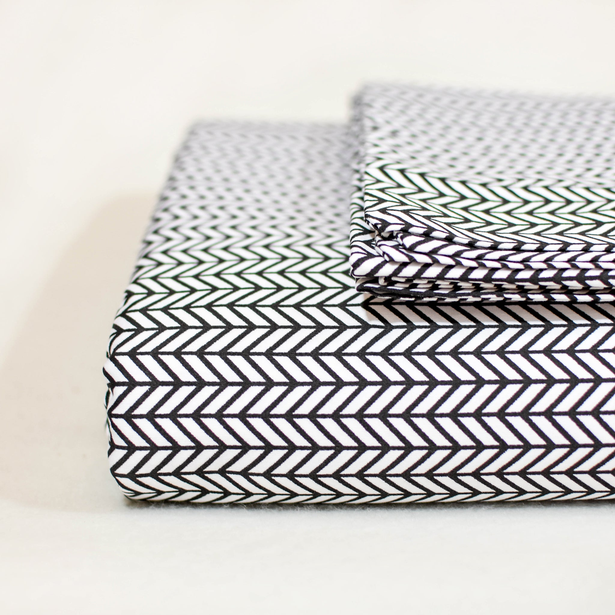 Herringbone Sheet Set In Black