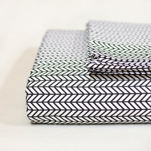 Herringbone Sheet Set in Black - caché district
