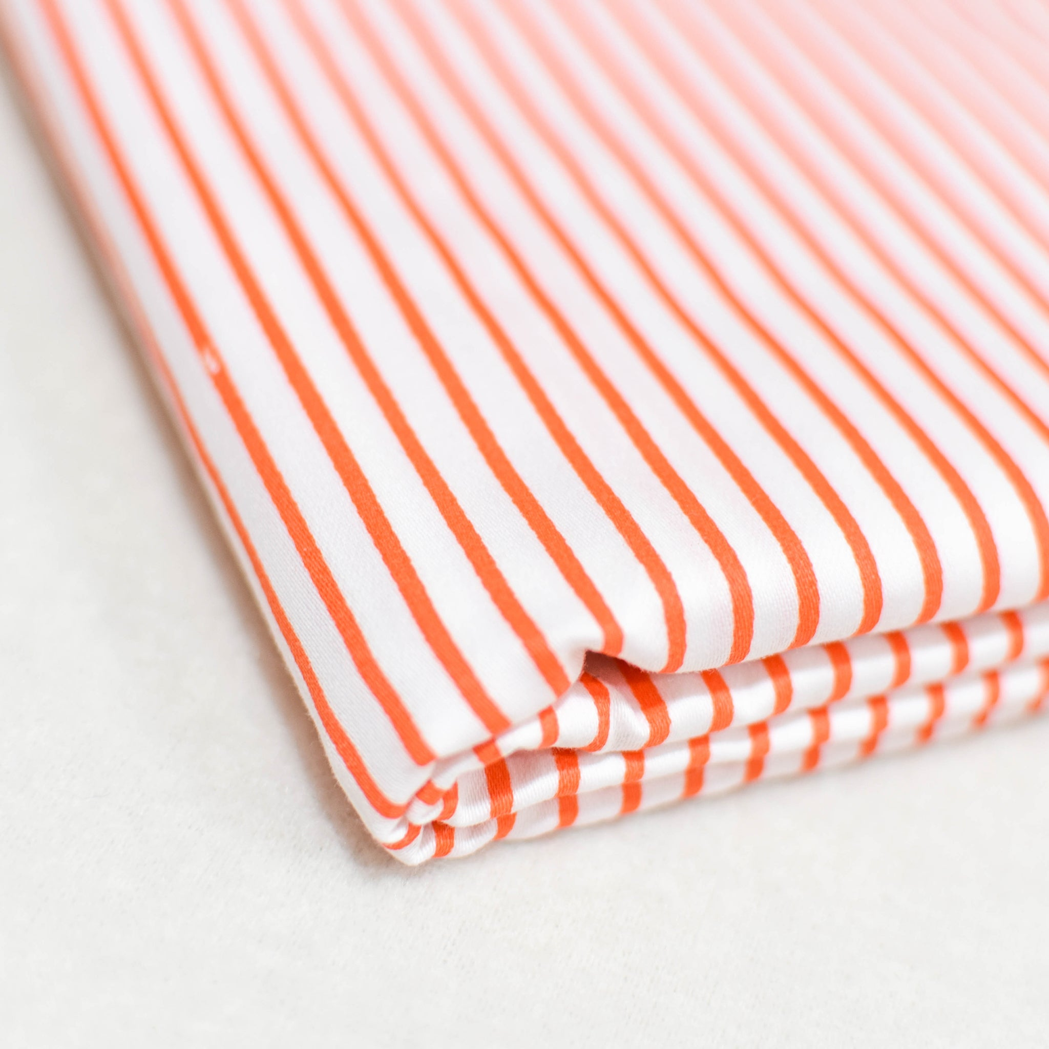 Pinstripe Duvet Cover In Orange