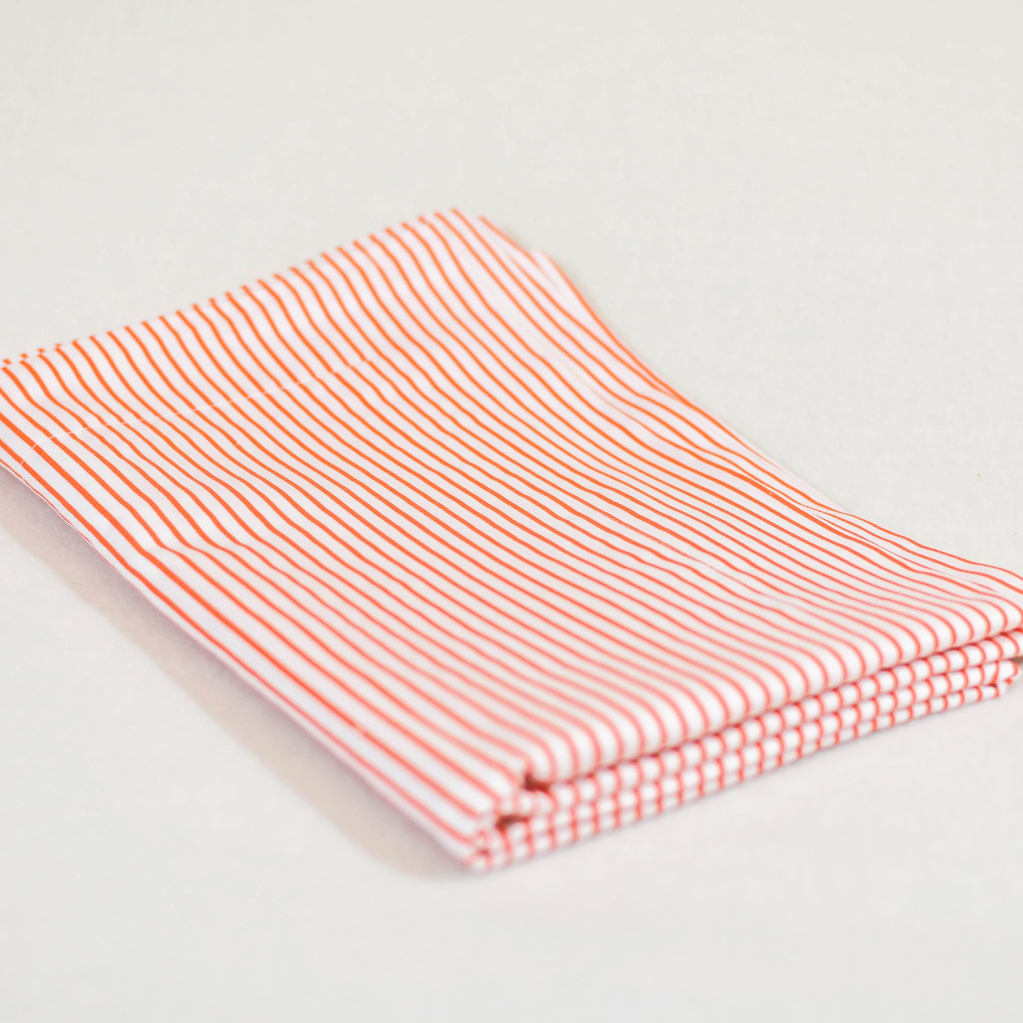 Pinstripe Shams In Orange