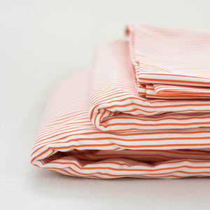 Pinstripe Sheet Set in Orange - caché district