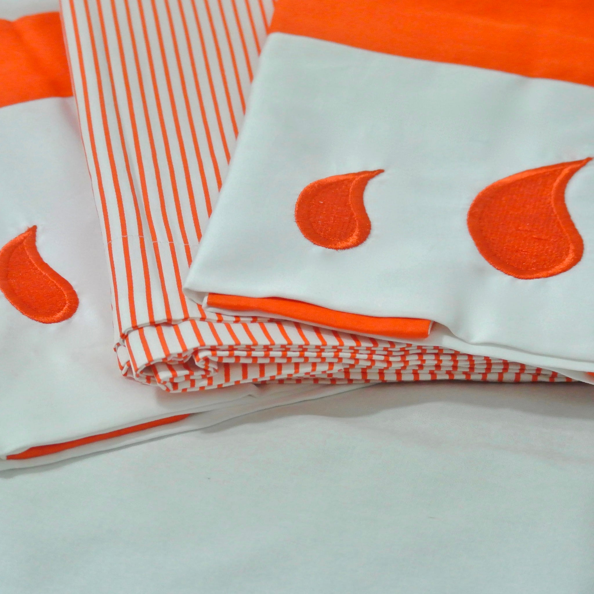 Classic Shams in Orange - caché district