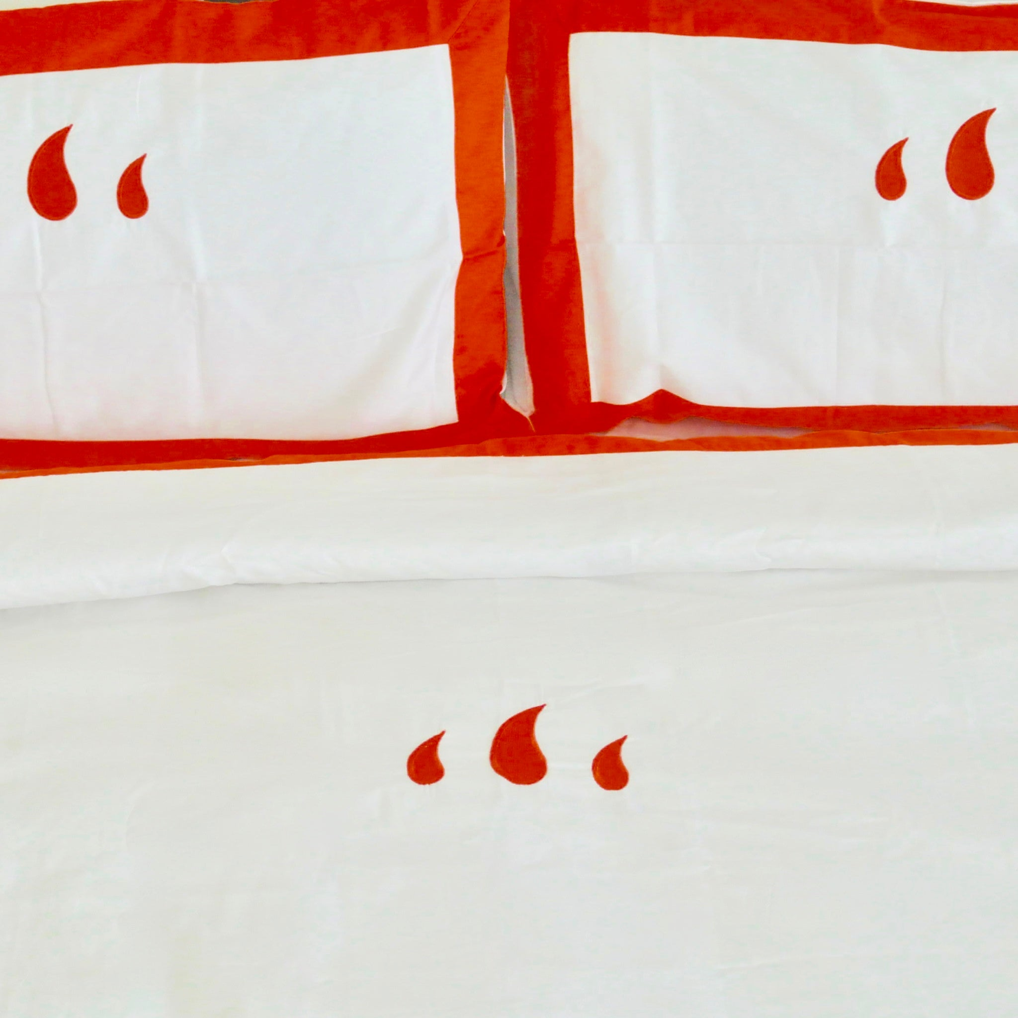 Classic Duvet Set in Orange - caché district