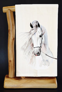 20% Net Proceeds Benefits HORSE RESCUE. Andalusa Dish Towel & Reusable Bag!  Select Benefit Charity.