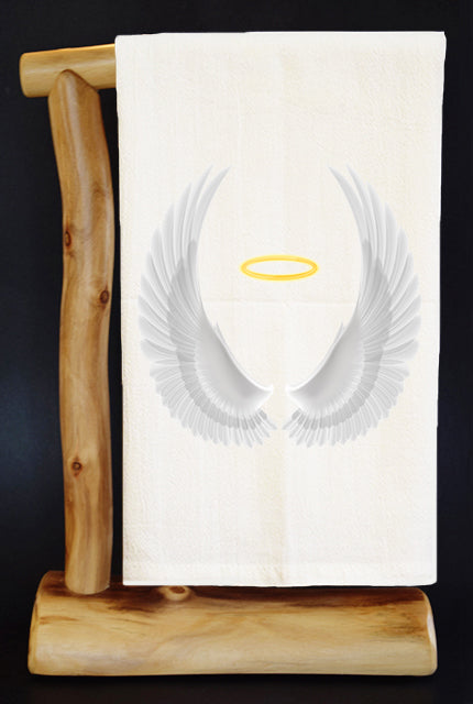 100% of Net Proceeds benefits Hope For Erin. Inspirational Angel Wings Premium Flour Sack.