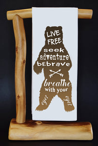 Live Free Bear Dish Towel & Reusable Bag!