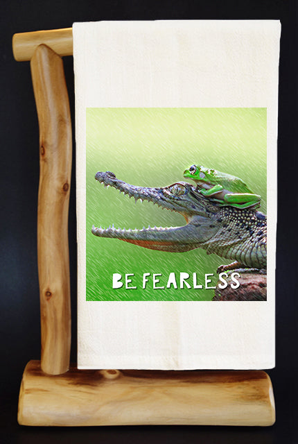 Be Fearless Dish Towel & Reusable Bag!