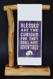 "Blessed Are The Curious (Camper) 17"" x 30"" Dish Towel & Gift Bag Set"