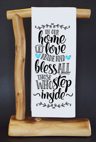 "Bless This Home 17"" x 30"" Dish Towel & Gift Bag"