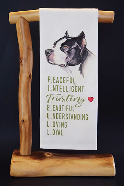 20% Net Proceeds Benefits BADASS BROOKLYN ANIMAL RESCUE! Pit Bull Dish Towel & Reusable Bag!