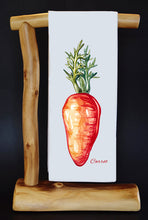 "Carrot 17"" x 30"" Dish Towel & Gift Bag Set!"