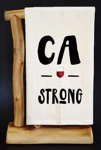 "20% Net Proceeds BENEFITS CA WILDFIRES • CA WINE STRONG 28"" x 29"" Premium Flour Sack Dish Towel & Reusable Bag!"