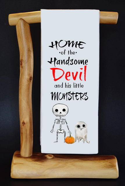 HANDSOME DEVIL & HIS TWO MONSTERS Devil Dish Towel & Gift Bag Set