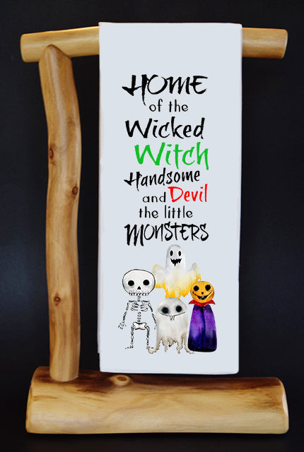 WICKED WITCH, HANDSOME DEVIL, MONSTERS Dish Towel & Reusable Bag!