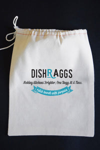 THANKSGIVING / HOLIDAYS 2-SIDED Dish Towel & Reusable Bag!