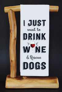 20% Net Proceeds Benefits COASTAL GERMAN SHEPHERD. Drink Wine & Rescue Dish Towel & Reusable Bag!