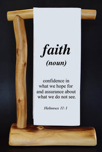 "FAITH 17"" x 30"" Dish Towel & Gift Bag Set"