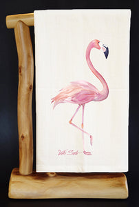 20% Net Proceeds Benefits VICKI SOTO MEMORIAL! Pink Flamingo Dish Towel & Reusable Bag!