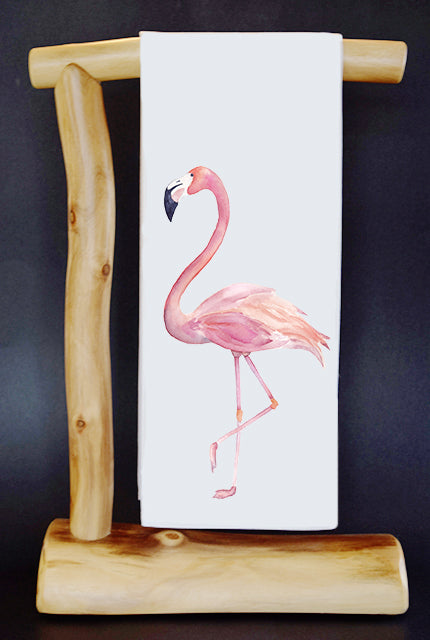 20% Net Proceeds Benefits Flamingo Gardens Wildlife Sanctuary! Pink Flamingo Dish Towel & Reusable Bag!