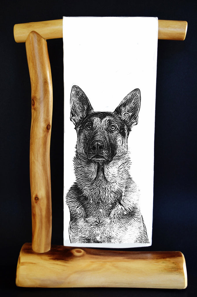 $5 Benefits SECOND CHANCE RESCUE NYC! German Shepherd Dish Towel. Comes with Matching Gift Bag. #RescueRagg