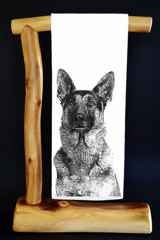 $5 Benefits ANIMAL RESCUE. GERMAN SHEPHERD #RescueRagg Dish Towel & Gift Bag. Select Benefit Charity.