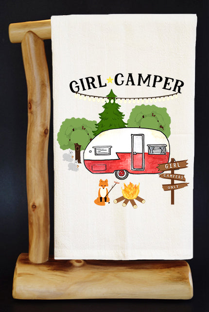 GIRL CAMPER 20% Benefits HoldYou Foundation Dish Towel & Reusable Bag!