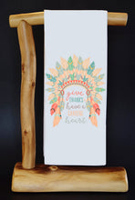 "GIVE THANKS & HAVE A GRATEFUL HEART 17"" x 30"" Dish Towel & Gift Bag Set."