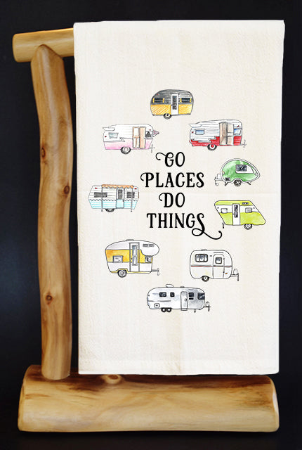 GO PLACES DO THINGS 20% Benefits HoldYou Foundation Dish Towel & Reusable Bag!
