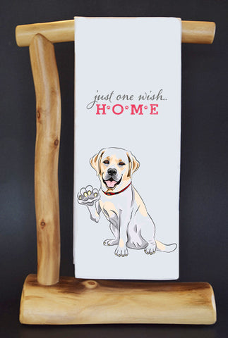 $5 benefits SECOND CHANCE RESCUE NYC! LAB ONE WISH #RescueRagg Dish Towel & Gift Bag.