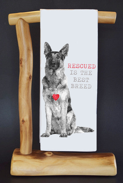 $5 Benefits SECOND CHANCE RESCUE NYC! RESCUED #RescueRagg Dish Towel & Gift Bag.
