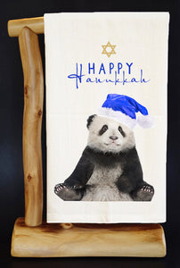 20% Net Proceeds Benefits PANDAS INTERNATIONAL! HAPPY HANUKKAH Dish Towel & Reusable Bag!