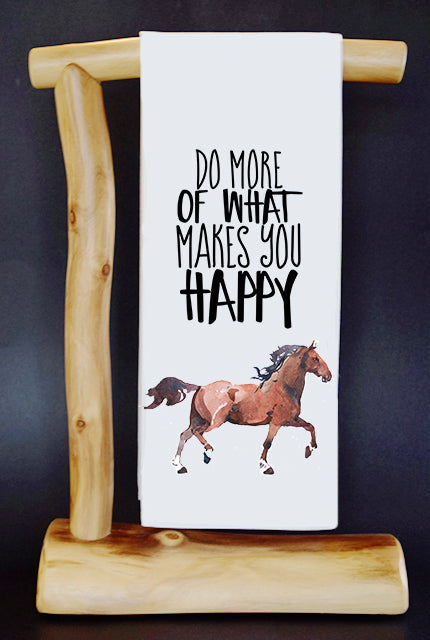20% Net Proceeds Benefits LUCKY ORPHAN HORSE RESCUE! Horse Happy Dish Towel & Reusable Bag!