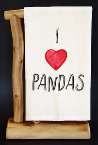 20% Net Proceeds Benefits PANDAS INTERNATIONAL I HEART PANDAS Premium Flour Sack Dish Towel