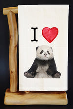 20% Net Proceeds Benefits PANDAS INTERNATIONAL I HEART PANDAS (sitting Premium Flour Sack Dish Towel