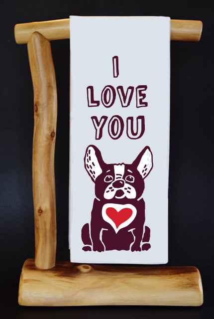 20% Net Proceeds Benefits GOOD LIF3 BULLY RESCUE TX! I LOVE YOU Dish Towel & Reusable Bag!