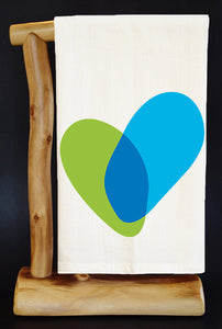 "25% Net Proceeds Benefits THE JOYFUL HEART FOUNDATION 28"" x 29"" Premium Flour Sack Dish Towel & Pouch"