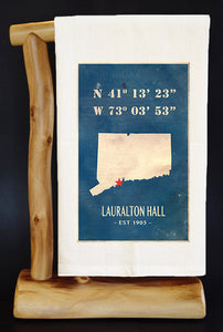 "25% NET PROCEEDS BENEFITS LAURALTON HALL. VINTAGE MAP 28"" X 29"" PREMIUM FLOUR SACK"