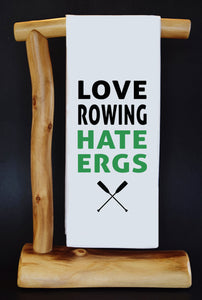 "20% Net Proceeds Benefits Select Charities! HATE ERGS 17"" x 30"" Dish Towel & Gift Bag Set (choose benefit charity from drop down menu)!"