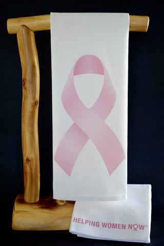 $5 Benefits NATIONAL BREAST CANCER FOUNDATION. Official Pink Ribbon CharityRagg Dish Towel.Comes with Matching Gift Bag!