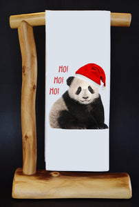 20% Net Proceeds Benefits PANDAS INTERNATIONAL! HO HO HO Dish Towel & Reusable Bag!