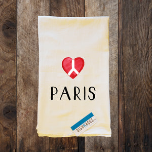 "PARIS 30"" x 30"" Light Weight (Shabby Chic) Flour Sack Dish Towel"
