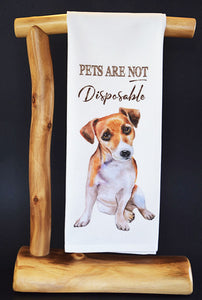$5 benefits SECOND CHANCE RESCUE NYC! Pets Are Not Disposable Dish Towel & Gift Bag #RescueRagg
